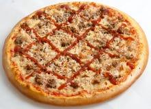 Pizza, pizze europejczyk i amerykanin kuchnia, Obrazy Stock