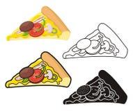 Pizza plasterek royalty ilustracja