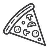 Pizza plasterka linii ikona, jedzenie i napój, fast food ilustracji