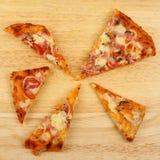 Pizza plasterki Obraz Royalty Free