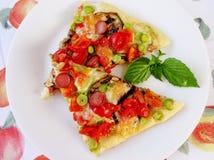 Pizza plasterki Fotografia Royalty Free