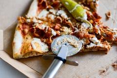 Pizza plasterki w papierowym pudełku Fotografia Stock
