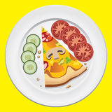 Pizza on a plate Stock Images