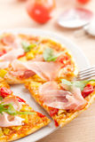 Pizza on plate Stock Photo