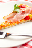 Pizza on plate Royalty Free Stock Photo