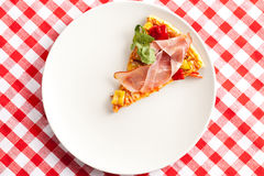 Pizza on plate Royalty Free Stock Photos
