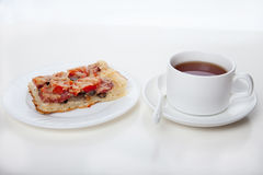 Pizza on a plate Royalty Free Stock Photography