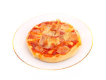 Pizza on plate. Stock Images