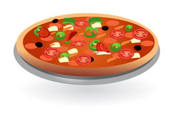 Pizza on plate isolated Stock Image