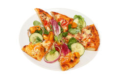 Pizza on plate Stock Images