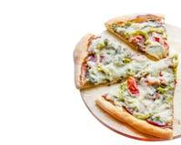 pizza pokrajać Obrazy Stock