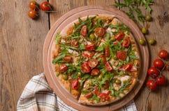 pizza pokrajać Fotografia Stock
