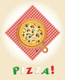 Pizza Poster Vector Illustration Stock Images