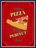 Pizza poster Royalty Free Stock Photo