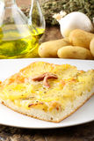 Pizza with potatoes Royalty Free Stock Photography