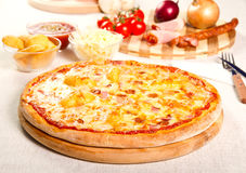 Pizza with potatoes Stock Photos