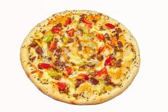pizza, prato principal Fotos de Stock