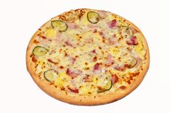 pizza, prato principal Imagem de Stock Royalty Free