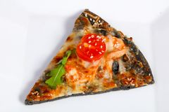 Pizza with prawns Royalty Free Stock Images