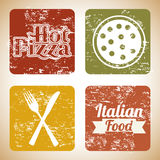 Pizza prints Stock Photo