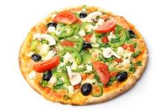 Pizza/priorità bassa bianca fotografie stock libere da diritti