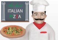 Pizza producent Zdjęcia Stock