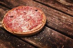 Pizza profonde de plat Images stock