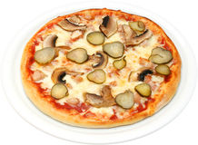 Pizza Prosciutto Crudo Royalty-vrije Stock Afbeeldingen