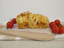 Pizza Pull-Apart-Bread with tomatoes and cheese Stock Photos