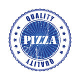 Pizza  Quality Stamp with stars. Royalty Free Stock Photo