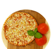 Pizza quatrro fromaggi (four cheese) Stock Photography