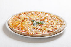Pizza quatrro fromaggi (four cheese) Royalty Free Stock Image