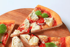 Pizza quattro formaggi Stock Photo