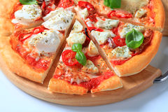 Pizza quattro formaggi Royalty Free Stock Images