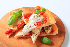 Pizza quattro formaggi Royalty Free Stock Photos