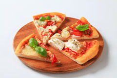 Pizza quattro formaggi Royalty Free Stock Photo