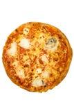 Pizza Quattro Fromaggi avec le chemin images libres de droits