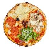 Pizza Quattro Stagioni stockfoto
