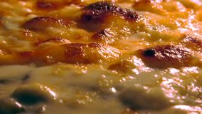 Pizza que cozinha o fim acima video estoque