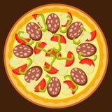 Pizza que você quer se sentar para baixo Imagem de Stock Royalty Free