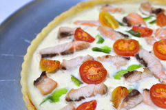 Pizza quiche variation Stock Photos