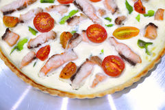 Pizza quiche variation Stock Images