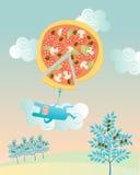 Pizza rabbit Royalty Free Stock Image