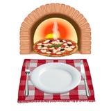Pizza recientemente cocida al horno ilustración del vector