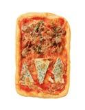 Pizza rectangulaire Photo stock