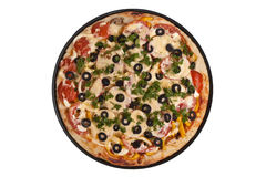 Pizza redonda Foto de Stock Royalty Free