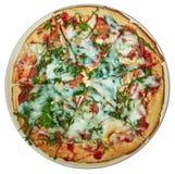 Pizza redonda em uma placa Imagem de Stock Royalty Free