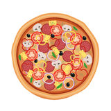 Pizza restaurant menu. Ingredients for cafe . Vector illustration Stock Photography