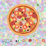 Pizza restaurant menu. Ingredients for cafe . Vector illustration Royalty Free Stock Images