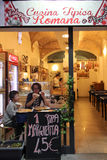 Pizza and restaurant in Rome Stock Photography
